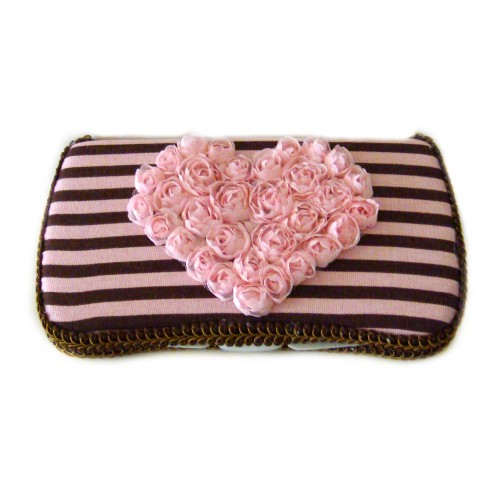 Carrie-Travel Wipes Case-wipey, wipe, case, holder, pink, brown, and