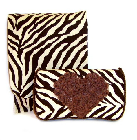 Rowan-Travel Duo Diaper & Wipes Set-brown, zebra, heart, rose, wipe case, diaper, pouch, gift, travel