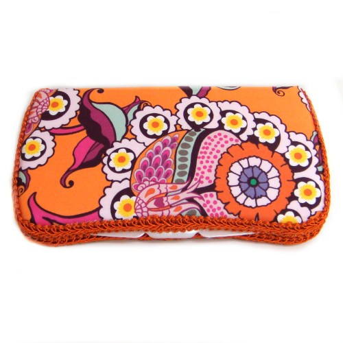Vintage Sunshine Travel Wipes Case-orange, colorful, wipey, case, holder
