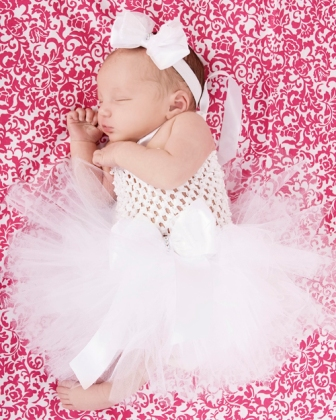 Tiny Blessings Baby Crochet Tutu Special Occasion Dress in White