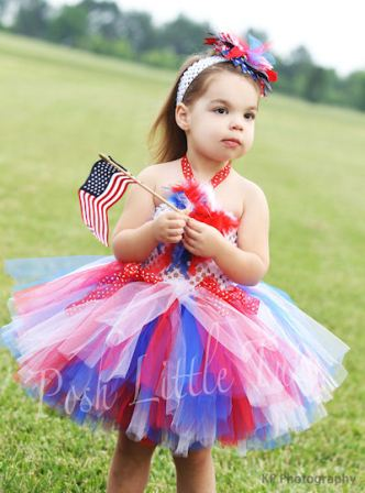Patriotic Little Miss Diva Crochet Tutu Dress