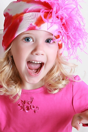 Orange-Pink Tie-Dye Marabou Feather Hat-