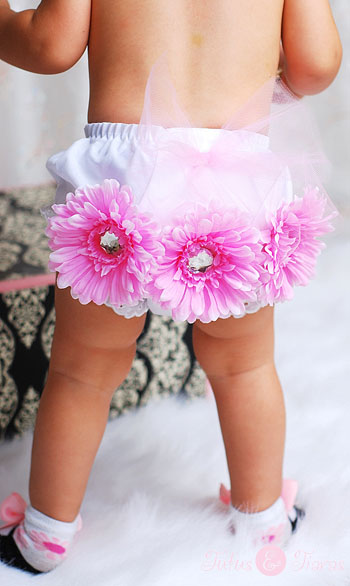 Little Miss Pink Daisy Tutu Flower Bloomers