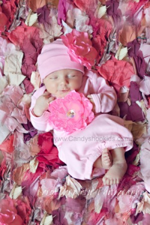 Pink Flower Gown & Hat Take Me Home Outfit
