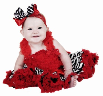 Riveting Red Zebra Baby Headband Hair Bow