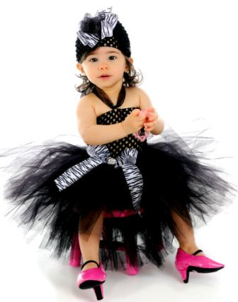 Animal Print Baby Tutu Halter Dress