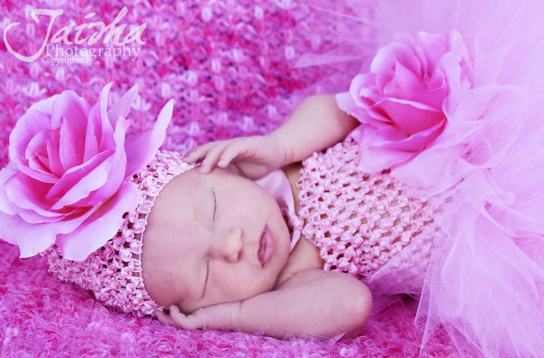 Premium Silk Rose Infant Baby Crochet Hat