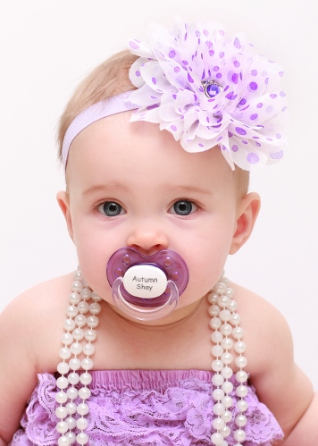 Purple Personalized Orthodontic Pacifier-lavender, purple, infant, baby, girl, newborn, gift, personalized, monogram, monogrammed, custom, toddler, paci