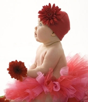 Red Daisy Flower Hat-red