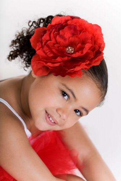Red Beauty Diamond Bloom Flower Hair Clip-flower clip, infant, baby girl, boutique, bling, red, holiday, christmas, valentines day, july 4th