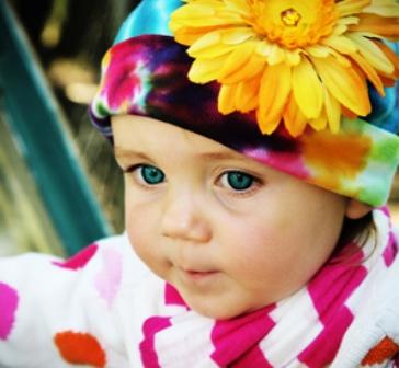 Rainbow Tie-Dye- Daisy Flower Hat-colorful