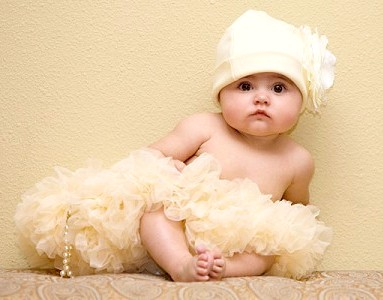 Luxurious Champagne Newborn Pettiskirt