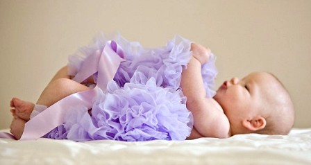 Girly Lavender Newborn Pettiskirt-