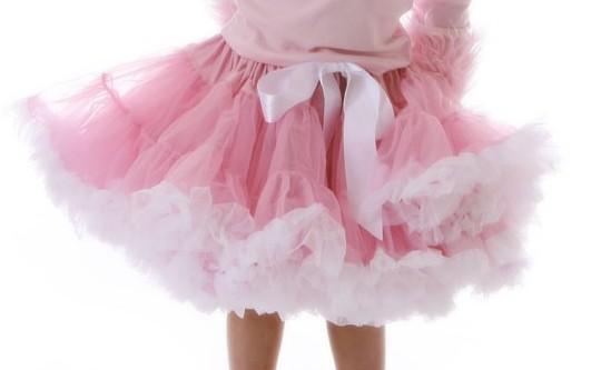 Pink & White Pettiskirt-