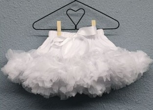 White Newborn Dropwaist Pettiskirt