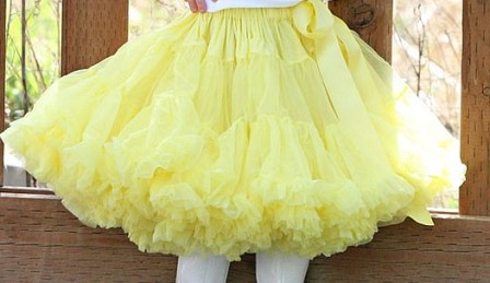 Solid Yellow Pettiskirt