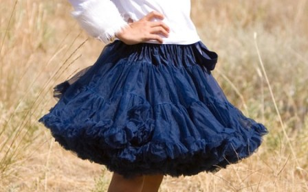 Solid Navy Pettiskirt-patriotic, july 4th, blue