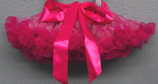Raspberry Confetti Newborn Pettiskirt-