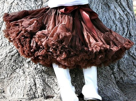 Solid Brown Pettiskirt-brown, fall