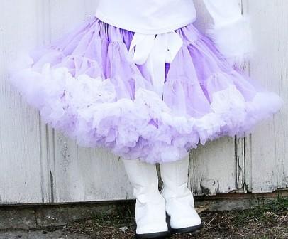 Lavender & White Pettiskirt-