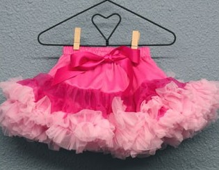 Newborn Dropwaist Pettiskirt - Raspberry/Pink-hot pink