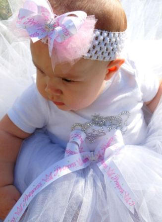 Always the Princess Tiara Luxury Tutu-white princess, baby, girl, toddler, boutique, infant, crown, tutu
