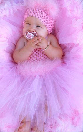 Pretty in Pink Marabou Crochet Tutu Dress