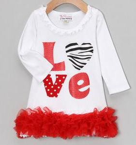 Baby Girls White Zebra Love Valentine Dress-red, white, zebra, print, valentine, valentine's, valentines, day, heart