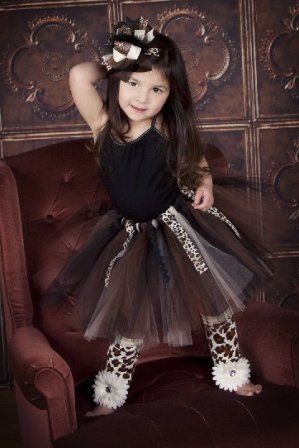 Wild Child Animal Print Ribbon Tutu