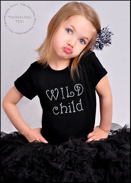 Wild Child Rhinestone Bling Top