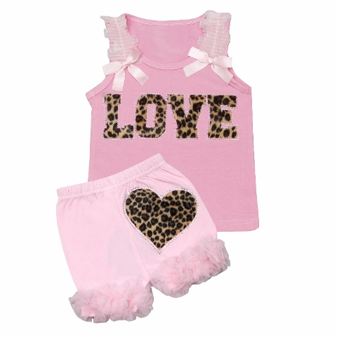 Cheetah Love Outfit Set-pink, leopard, animal print, tank, shorts