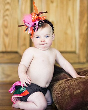 Hot Pink Orange Camo Hunting Ruffle Bloomers