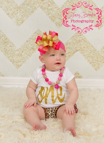 Gold Glitter Sparkle ONE First Birthday Shirt