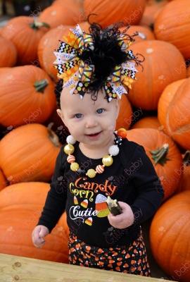 Candy Corn Cutie Halloween Onesie