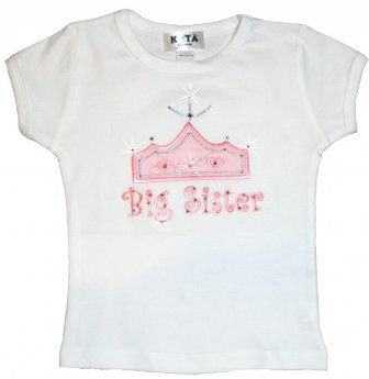 Precious Big Sister Crown Tee