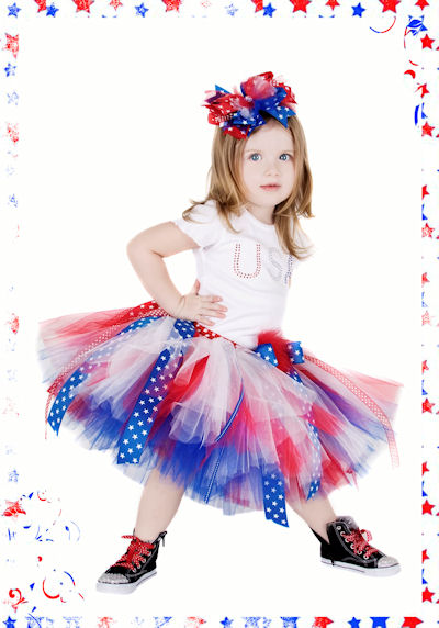Posh and Patriotic July 4th Tutu