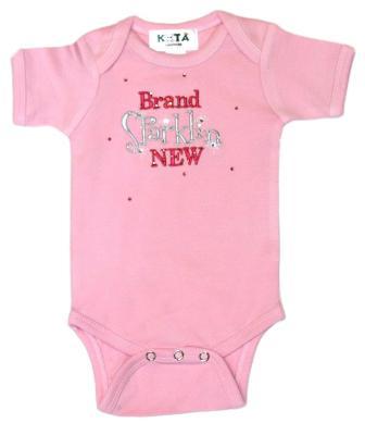 Brand Sparkling New Pink Baby Onesie