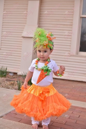 Baby Girls Hippity Hop Easter Carrot Shirt Outfit Set