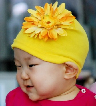 Yellow Daisy Flower Hat