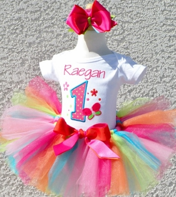 Fancy Bright Butterfly Birthday Tutu Set