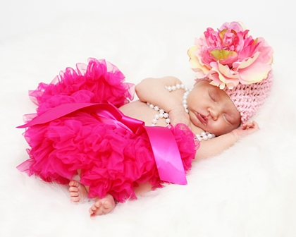 Sweet Peony Crochet Knit Baby Flower Hat