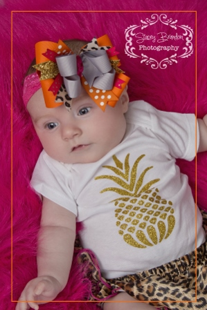 Baby Girls Gold Glitter Pineapple Summer Onesie Shirt