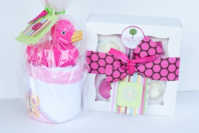 Squeaky Clean Baby Girl Shower Bath Gift Set