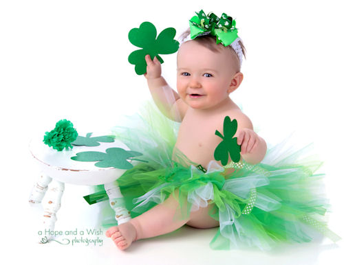 St. Patrick's Day Little Girls Green Irish Tutu