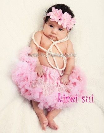 Newborn Light Pink Lace Pettiskirt