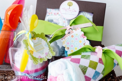 Grand Triple Delight Baby Girl Shower Gift Set