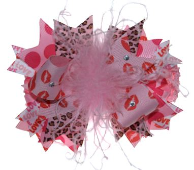 Love Explosion Over The Top Valentine Hair Bow Headband