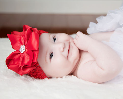 Holiday Red Luxury Jeweled Hairbow Headband