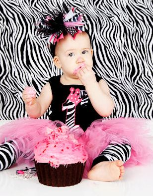 First Birthday Baby Zebra Top