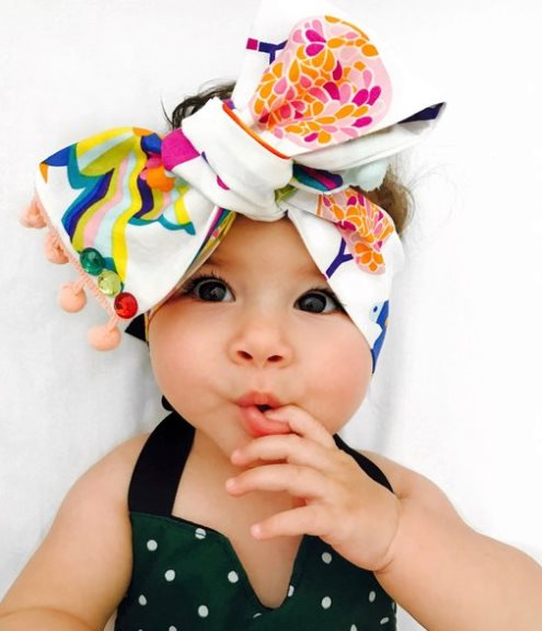 Bright Rainbow Aisha Unicorn Pom Pom Headwrap Headband